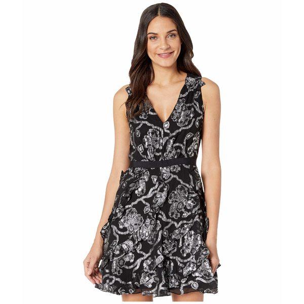レベッカテイラー レディース ワンピース トップス Sleeveless Lurex Clip Dress Black/Silver