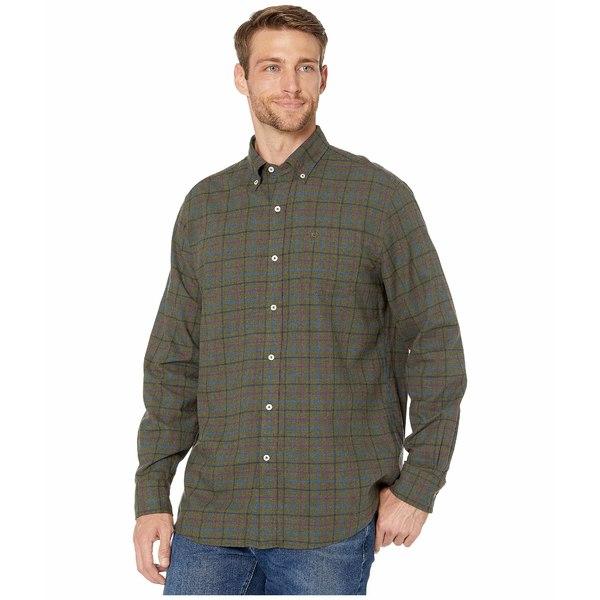 サウザーンタイド メンズ シャツ トップス Skysail Plaid Sport Shirt Dark Sage