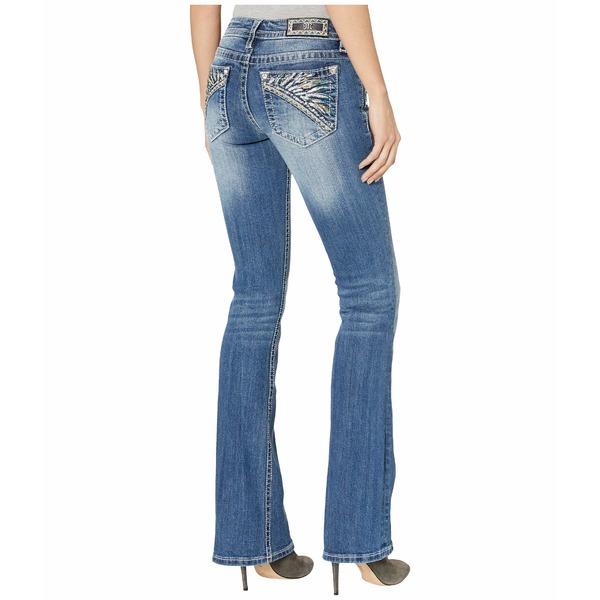 ミスミー レディース デニムパンツ ボトムス Feather Headdress Bootcut Jeans in Dark Blue Dark Blue