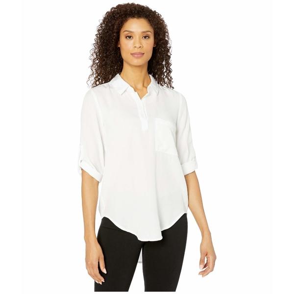 モッドドック レディース シャツ トップス Lightweight Tencel Twill Roll Tab Patch Pocket Tunic White