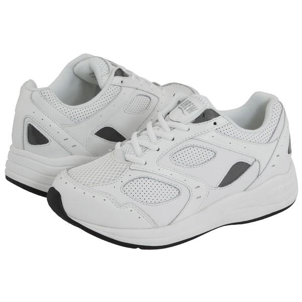 ドリュー レディース スニーカー シューズ Flare White/White Perf Leather/White Mesh