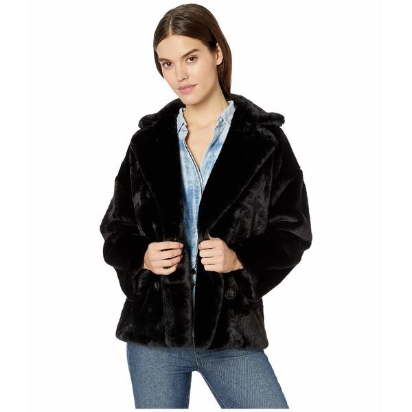 フリーピープル レディース コート アウター Solid Kate Faux Fur Coat Black