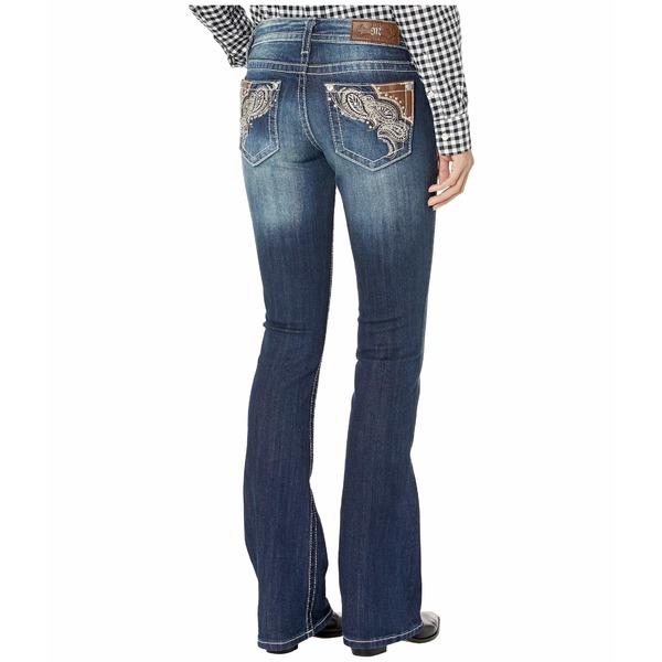 ミスミー レディース デニムパンツ ボトムス Western Paisley Bootcut Jeans in Dark Blue Dark Blue