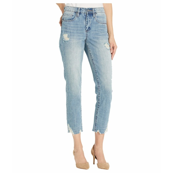 ブランクニューヨーク レディース デニムパンツ ボトムス The Madison Crop Denim Jeans with Destructed Hem Detail in Risk Taker Risk Taker