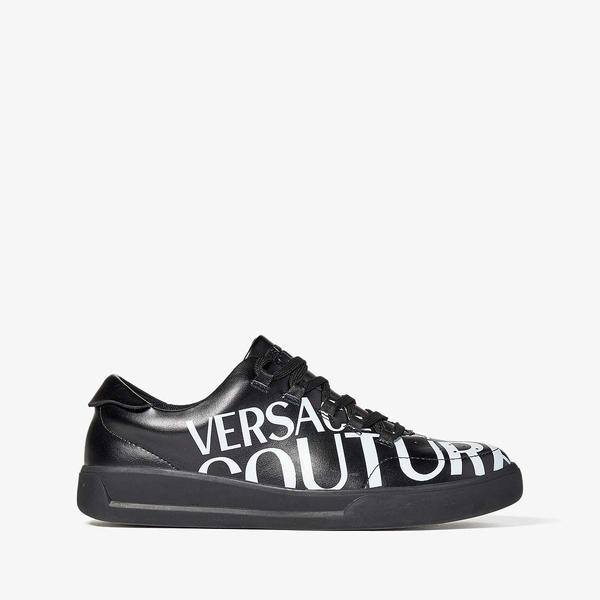 ベルサーチ メンズ スニーカー シューズ Bold Logo Low Top Sneaker Black