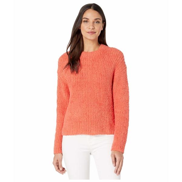 ワンステイト レディース ニット&セーター アウター Mock Neck Terry Yarn Sweater Papaya