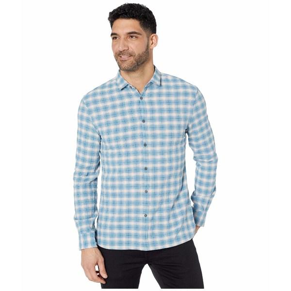 ジョンバルバトス メンズ シャツ トップス Fulton Slim Fit Long Sleeve Sport Shirt, Clean Front, Button W671V4B Midnight
