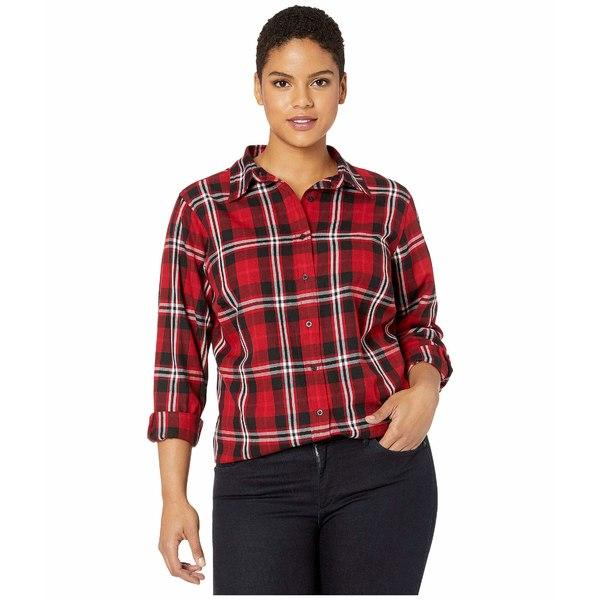 ラルフローレン レディース シャツ トップス Plus Size Collared Cotton Shirt Red/Polo Black