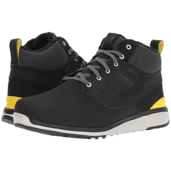 サロモン メンズ ブーツ&レインブーツ シューズ Utility Freeze CS WP Black/Black/Empire Yellow