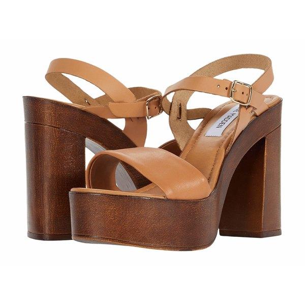 スティーブ マデン レディース ヒール シューズ Laurissa Heeled Sandal Tan Leather