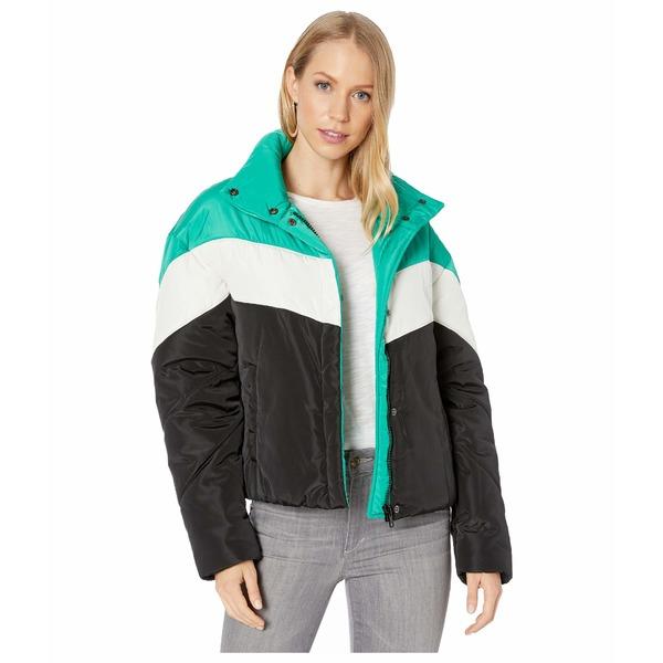 サンクチュアリー レディース コート アウター Ski Club Puffer Emerald/Black Stripe