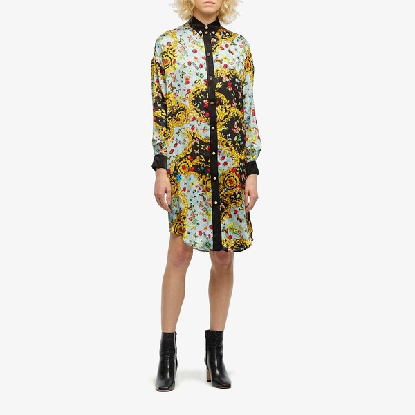 ベルサーチ レディース ワンピース トップス Lady Bug Print Shirtdress Mint