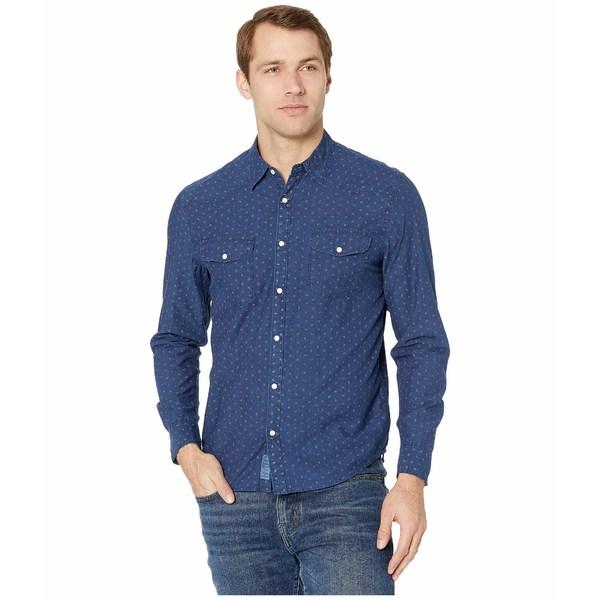 ラッキーブランド メンズ シャツ トップス Santa Fe Western Shirt Blue Print