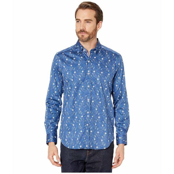 ロバートグラハム メンズ シャツ トップス Hawkesworth Tailored Fit Sport Shirt Blue