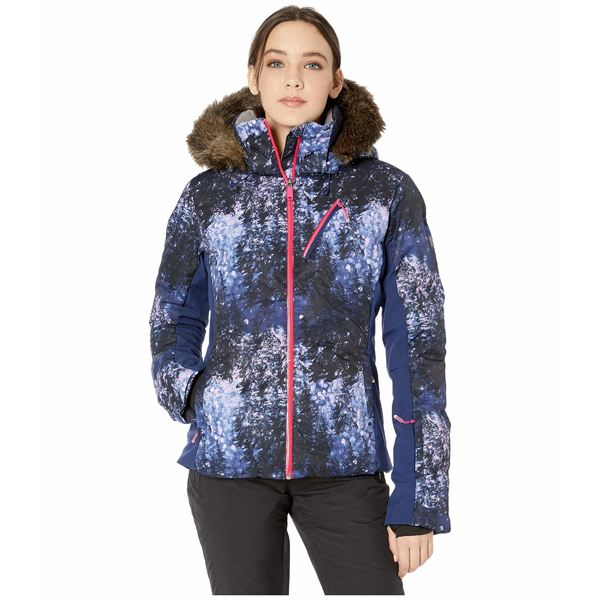 ロキシー レディース コート アウター Snowstorm Plus Snow Jacket Medieval Blue Sparkles