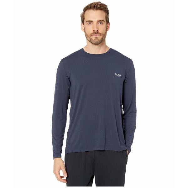 ヒューゴボス メンズ シャツ トップス Comfort Micromodal Shirt Navy