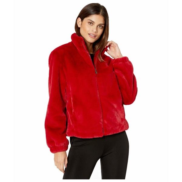 サンクチュアリー レディース コート アウター Sami Faux Fur Jacket Party Red