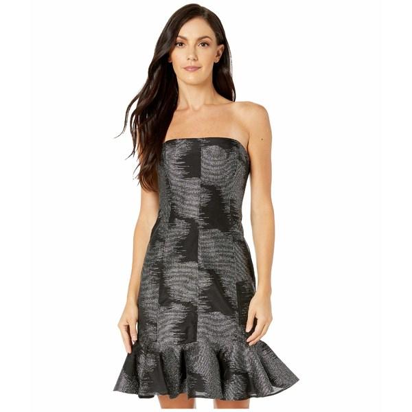 ホルストンヘリテイジ レディース ワンピース トップス Strapless Metallic Jacquard Dress Black/Silver