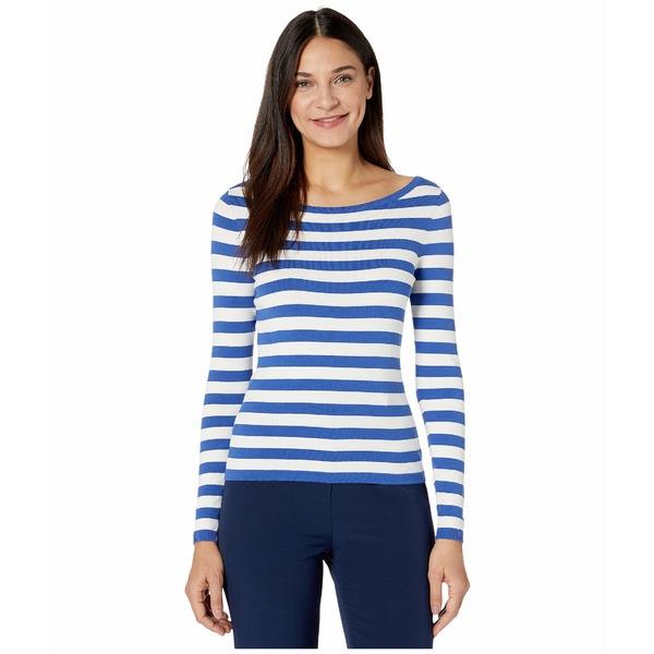 ミリー レディース ニット&セーター アウター Boat Neck Top French Blue/White