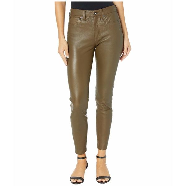 ラグアンドボーン レディース デニムパンツ ボトムス Nina High-Rise Ankle Skinny Leather Pant Army