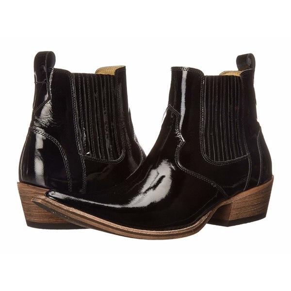 マッシモマッテエロ メンズ ブーツ&レインブーツ シューズ El Padrino Pointy Toe Boot Black Patent Leather
