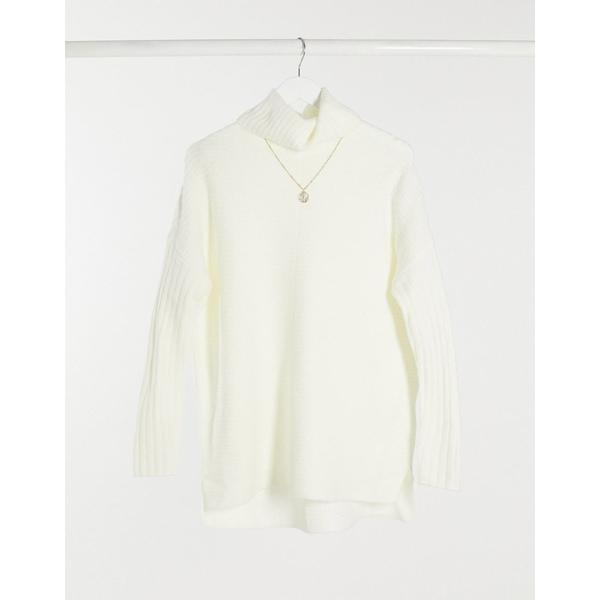 レディース sweater in Miss longline Cream ニット&セーター Selfridge アウター ミスセルフフリッジ cream