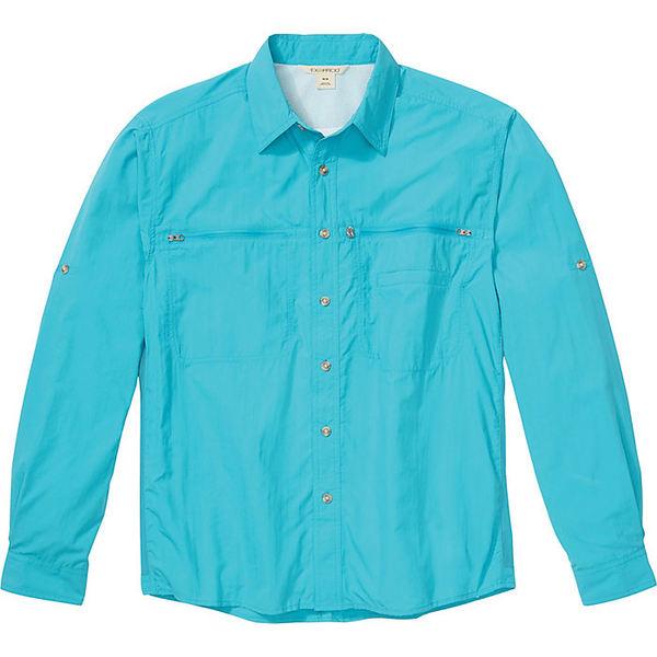 エクスオフィシオ メンズ ハイキング スポーツ ExOfficio Men's Reef Runner LS Shirt Algiers Blue