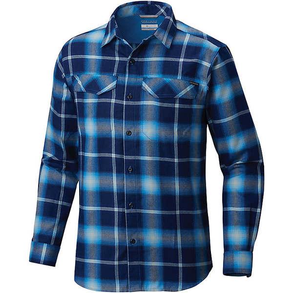 コロンビア メンズ ハイキング スポーツ Columbia Men's Silver Ridge Flannel LS Shirt Azure Blue Plaid