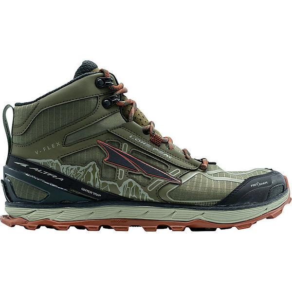 オルトラ メンズ ランニング スポーツ Altra Men's Lone Peak 4 Mid Mesh Shoe Ivy Green / Red Clay
