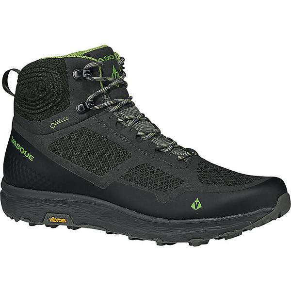 バスク メンズ ハイキング スポーツ Vasque Men's Breeze LT GTX Shoe Beluga/Lime Green