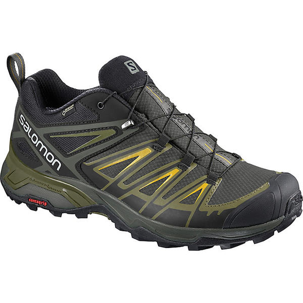 サロモン メンズ ハイキング スポーツ Salomon Men's X Ultra 3 GTX Shoe Castor Gray / Beluga / Green Sulphur