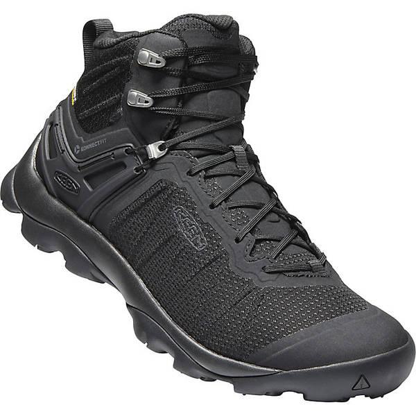 キーン メンズ ハイキング スポーツ Keen Men's Venture Mid Waterproof Shoe Black / Black
