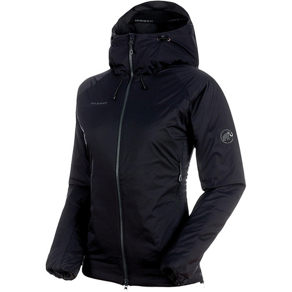 マムート レディース ジャケット&ブルゾン アウター Mammut Women's Rime IN Flex Hooded Jacket Black / Phantom