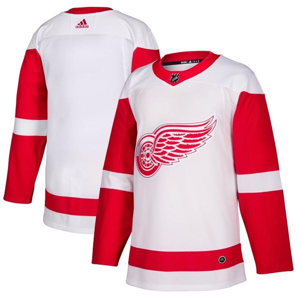 アディダス メンズ ユニフォーム トップス Detroit Red Wings adidas Away Authentic Blank Jersey White