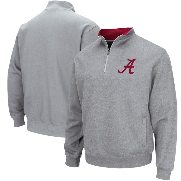 コロシアム メンズ ジャケット&ブルゾン アウター Alabama Crimson Tide Colosseum Tortugas Logo QuarterZip Pullover Jacket Charcoal