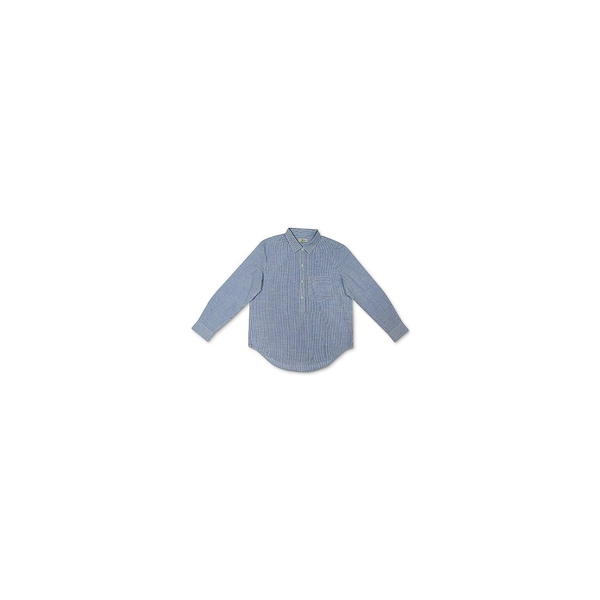 日本最大の スタイルアンドコー レディース カットソー トップス Cotton Popover Shirt, Meter Blue Combo, 植木鉢の店 どっちゃん 3a85f855
