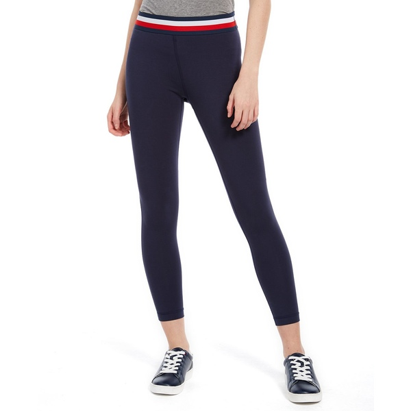 【上品】 トミー ヒルフィガー レディース カジュアルパンツ ボトムス Striped-Waist 7/8-Length Pants Navy, ヨシイマチ 736ceb51