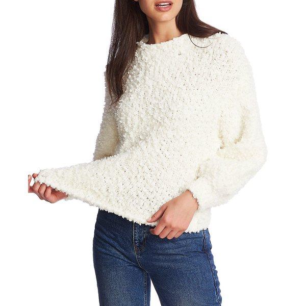 アウター White Mock-Neck Antique ニット&セーター ワンステイト レディース Sweater Poodle-Textured