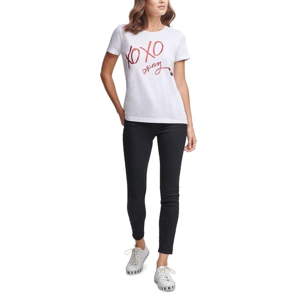 2020人気新作 ダナ キャラン ニューヨーク レディース カットソー トップス Lipstick Graphic T-Shirt Ivory, 石巻こだわり屋本舗 b604d8b4