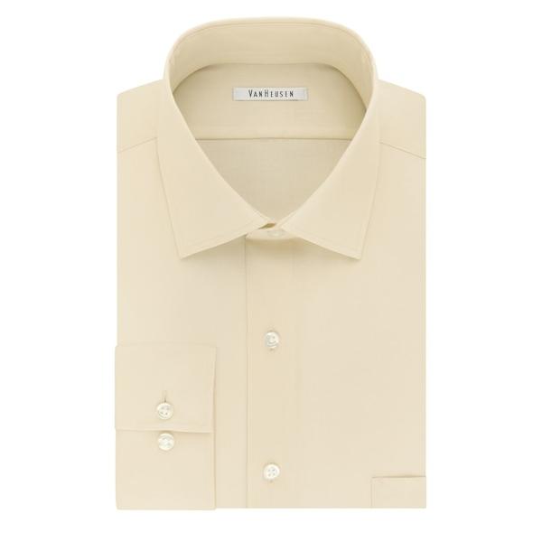 ヴァンハウセン メンズ シャツ トップス Regular-Fit Tek Dress Shirt Canvas