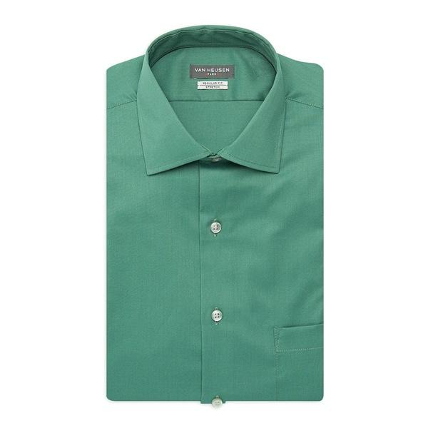 ヴァンハウセン メンズ シャツ トップス Regular-Fit Tek Dress Shirt Lake