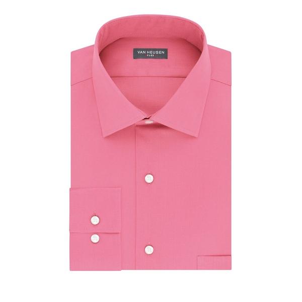 ヴァンハウセン メンズ シャツ トップス Regular-Fit Tek Dress Shirt Rose Pink