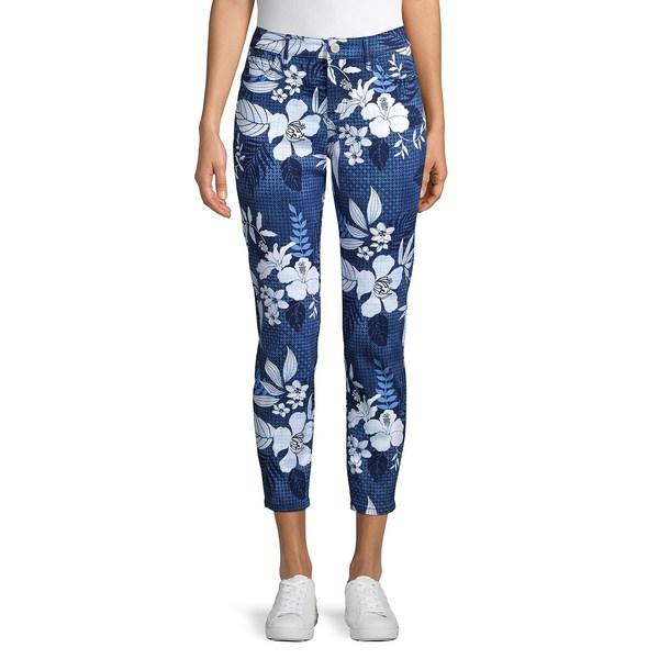 トッミーバハマ レディース カジュアルパンツ ボトムス Floral Cotton Cropped Pants Island Navy