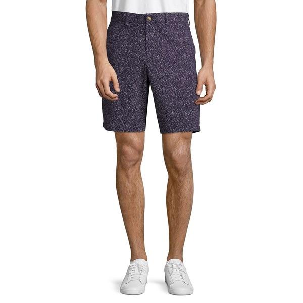 ブラック・ブラウン1826 メンズ ハーフ&ショーツ ボトムス Twill Floral Shorts Purple
