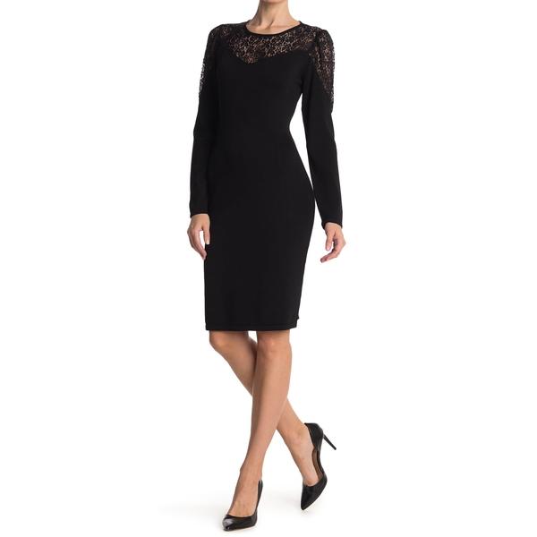 カルバンクライン レディース トップス デポー 通信販売 ワンピース BLACK Lace Detail Dress Yoke 全商品無料サイズ交換