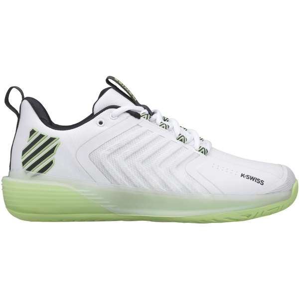 K-Swiss レディース スポーツ テニス White Blue 全商品無料サイズ交換 3 今だけ限定15%OFFクーポン発行中 Ultrashot Women's 激安通販専門店 Tennis Shoes ケースイス