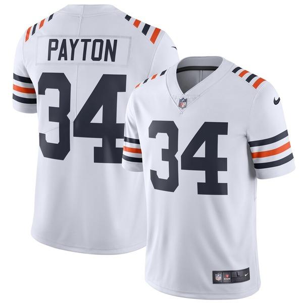 ナイキ メンズ シャツ トップス Walter Payton Chicago Bears Nike 2019 Alternate Classic Retired Player Limited Jersey White
