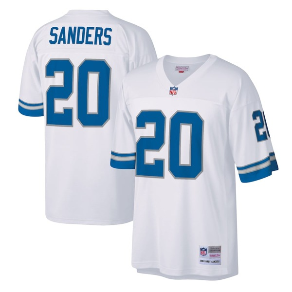 ミッチェル&ネス メンズ シャツ トップス Barry Sanders Detroit Lions Mitchell & Ness Legacy Replica Jersey White