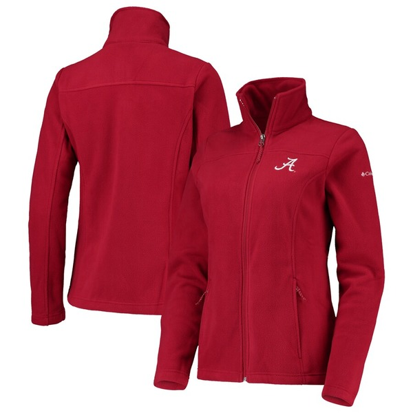 コロンビア レディース ジャケット&ブルゾン アウター Alabama Crimson Tide Columbia Women's Give & Go II Fleece Full-Zip Jacket Crimson