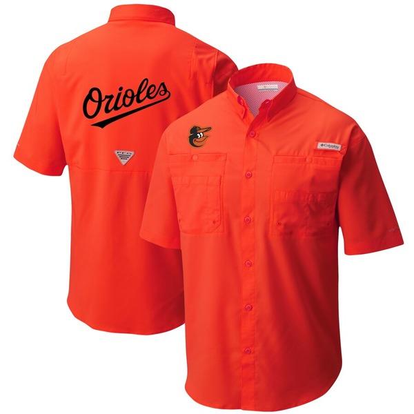 コロンビア メンズ シャツ トップス Baltimore Orioles Columbia Tamiami Omni-Shade Button-Down Shirt Orange